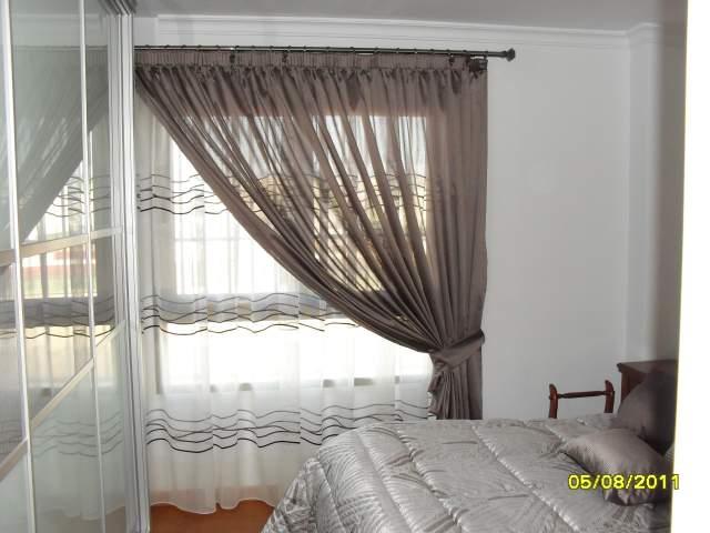 Cortinas para dormitorio en barra de acero inox doble quotes for Visillos dormitorio